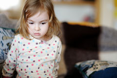 Sad little girl portrait Royalty Free Stock Photography