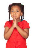 Sad little girl praying for something Royalty Free Stock Photo