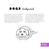 Sad lonely dog background Stock Image