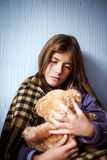 Sad and lonely girl Stock Photo