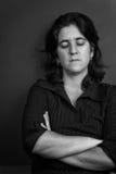 Sad and lonely hispanic woman Royalty Free Stock Photos