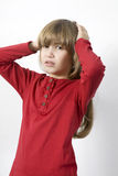 Sad and lonely little girl Royalty Free Stock Photos