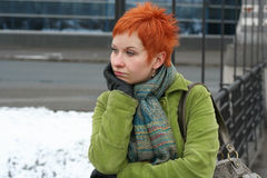 Sad, lonely woman Stock Photos