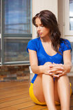 Sad and lonely woman Royalty Free Stock Photos