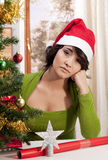 Sad lonely Xmas Stock Photos