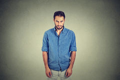 Sad lonely young man with no motivation in life Royalty Free Stock Photos