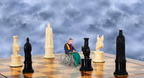 Sad Lonely Senior Elderly Man in Wheelchair, Aging Stock Photos