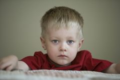 Sad Looking Boy Stock Images