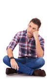 Sad looking casual man Stock Photo