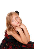 Sad looking little girl. Royalty Free Stock Images