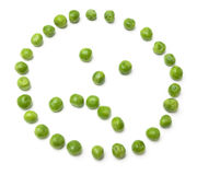 Sad looking pea face smiley Stock Image