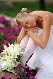 Sad looking sexy bride Royalty Free Stock Images