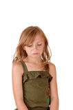 Sad looking small girl. Stock Photos
