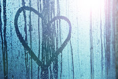 Sad love heart symbol background Stock Image