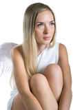 Sad lovely angel Stock Photography