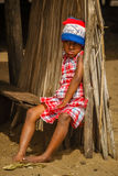 Sad malagasy girl Stock Photography