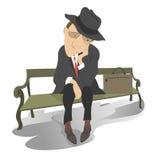 Sad man on the bench Royalty Free Stock Photo