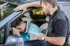 Sad man in car Royalty Free Stock Image