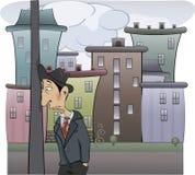 A sad man cartoon Royalty Free Stock Images