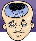 Sad man concept cartoon illustration Stock Image
