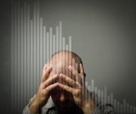 Sad man. Crisis concept. Royalty Free Stock Photography