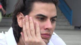 Sad Man, Depressed Adult, Feelings stock video