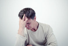 The sad man, facepalm concept fear Royalty Free Stock Images