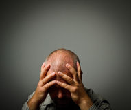 Sad man. Grief. Expressions, feelings and moods. Man in thoughts Stock Photography