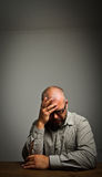 Sad man. Grief. Expressions, feelings and moods. Man in thoughts Royalty Free Stock Image