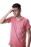 Sad man holding his head Stock Photos