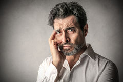 Sad man Royalty Free Stock Photo