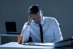 Sad man in the office Royalty Free Stock Photography
