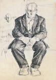 Sad man portrait Stock Photo