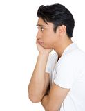 Sad man in profile Stock Photo