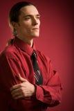 Sad man in red shirt Royalty Free Stock Photos