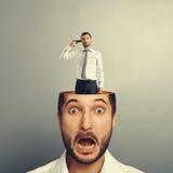 Sad man and shocked man Stock Images