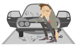 Sad man Stock Image