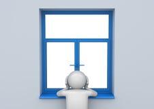 Sad man by the window - Lifestyle Stock Photos