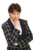 Sad mature business woman Stock Images