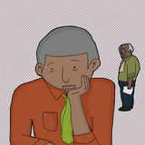 Sad Mature Businessman Stock Images