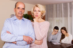 Sad mature couple Stock Images