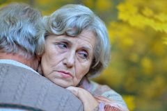 Sad mature couple Royalty Free Stock Photo