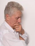 Sad mature man Stock Photo