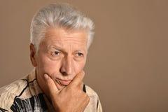 Sad mature man Stock Photography