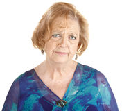 Sad Mature Woman Stock Image