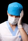 Sad medical doctor Stock Photos