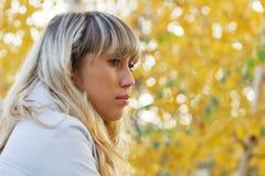 Sad melancholic woman. Stock Photos