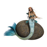 Sad Mermaid Royalty Free Stock Photography