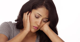 Sad Mexican woman Stock Images