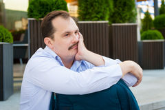 Sad middle age man portrait Royalty Free Stock Images